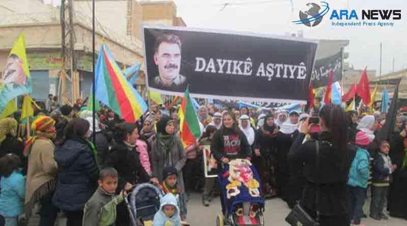 عبدالله اوجلان يغلق مدينة تل ابيض ورجال الأسد يحتفلون به