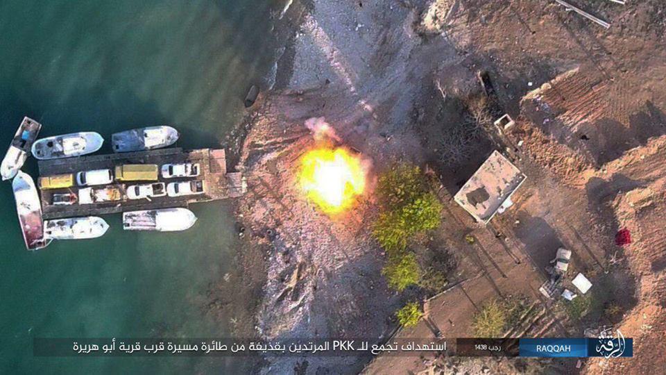 تنظيم داعش يقصف ميليشيا صالح مسلم جوًا في الرقة
