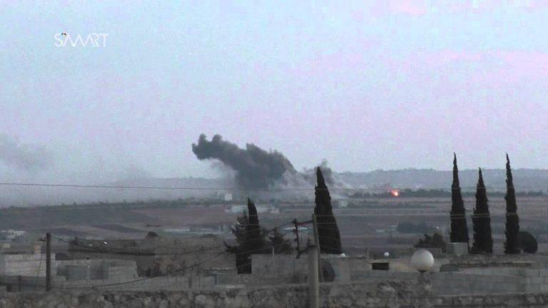طائرات مجهولة تُغير على مناطق لميليشيا صالح مسلم شمال حلب