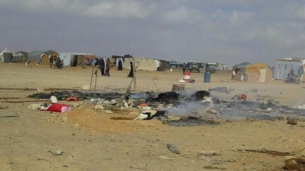 مقتل 6 بتفجيرين بمخيم الركبان للنازحين السوريين