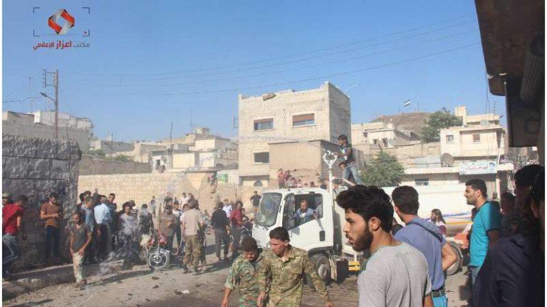 قتلى وجرحى بانفجار سيارة مفخخة وسط مدينة اعزاز