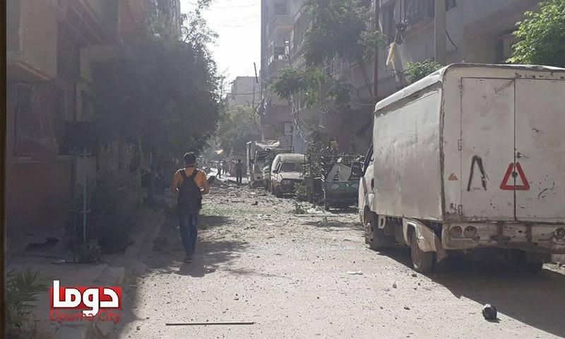 """ضحايا إثر غارات على دوما في الغوطة تزامنًا مع """"أستانة 5"""""""