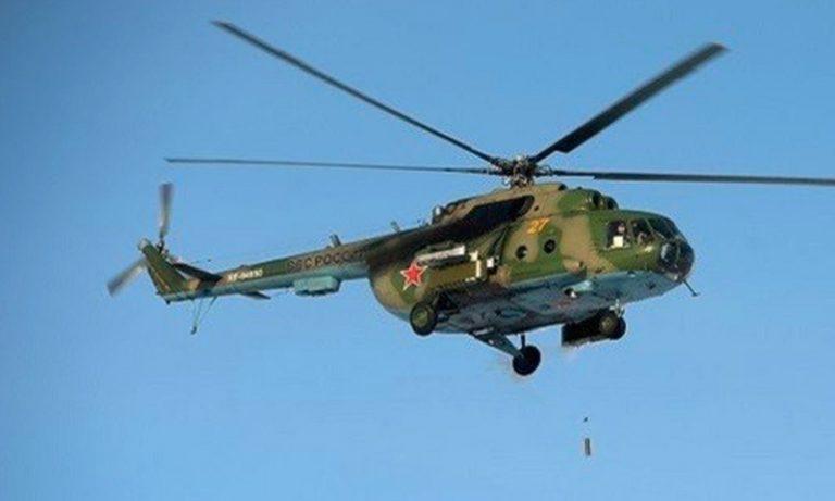 سقوط مروحية روسية بين حماة وحمص