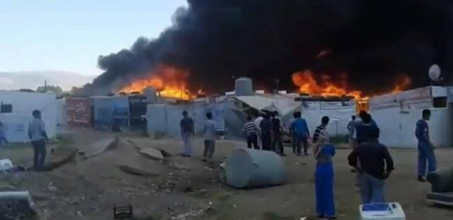 ضحايا بحريق في مخيم للنازحين شمالي حلب