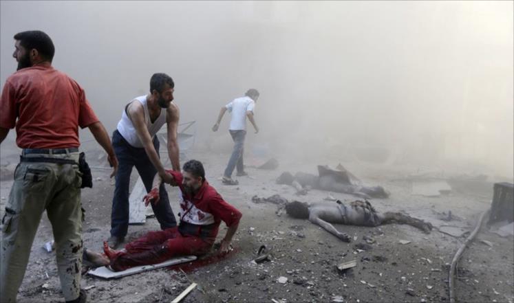 المعارضة تستنكر الصمت الدولي تجاه قصف الغوطة
