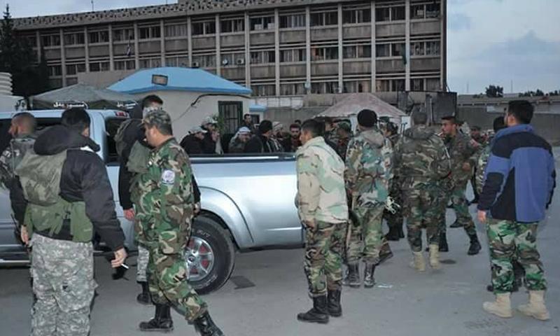 النظام وميليشياته يتستقدم تعزيزات إلى محيط حرستا شرقي دمشق