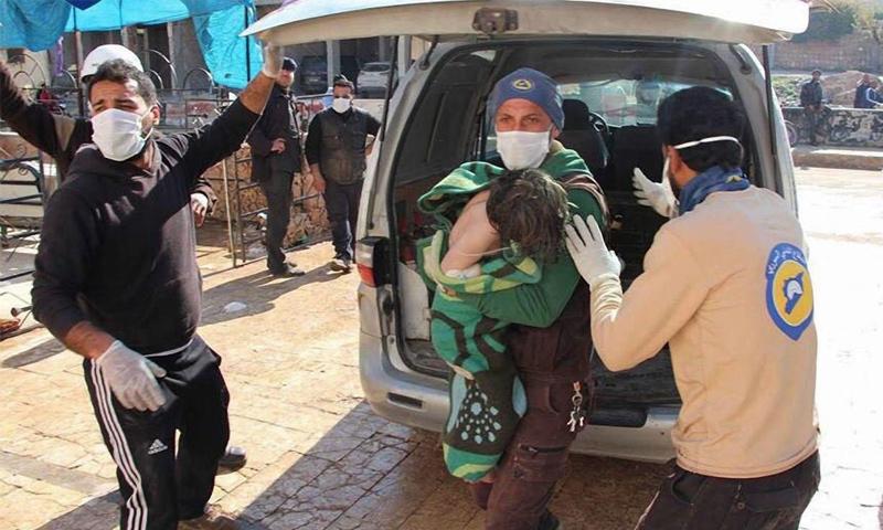 دعاية جديدة لاستخدام الكيماوي في سوريا قبل 13 آذار