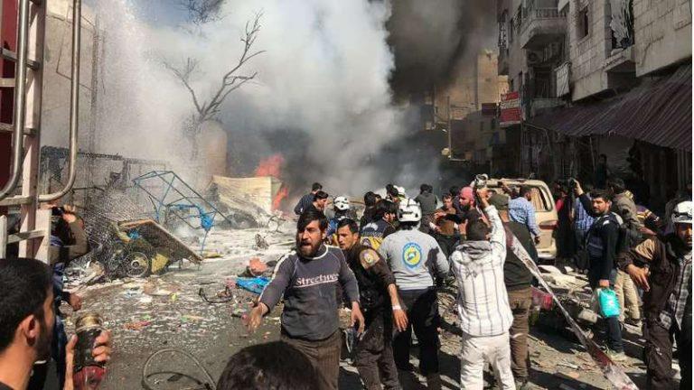 قتلى وجرحى بانفجار مفخخة في الباب بريف حلب (صور + فيديو)
