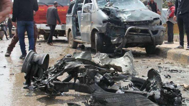 انفجار سيارة مفخخة في إعزاز يوقع ضحايا (صور+فيديو)
