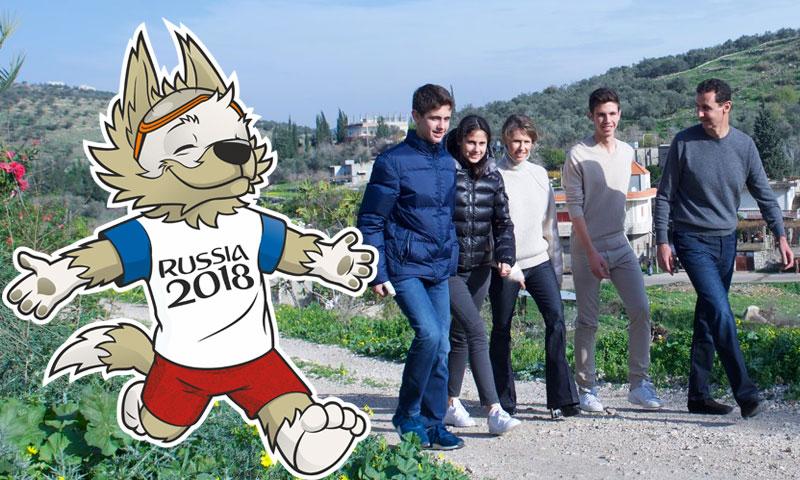 روسيا تهدي أبناء الأسد الكرة الرسمية لكأس العالم 2018