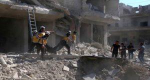 32 شهيداً بقصف معرة النعمان وروسيا تنفي مشاركتها بالقصف