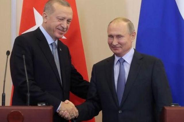 أردوغان: تركيا وروسيا تتفقان على انسحاب مليشيات الوحدات الكردية وتسيير دوريات مشتركة