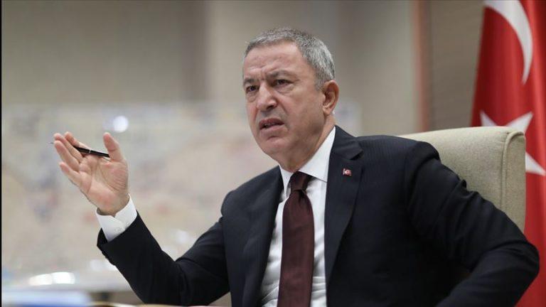 """وزير الدفاع التركي:""""نبع السلام"""" مستمرة بنجاح وتم تحييد 342 إرهابيًا"""