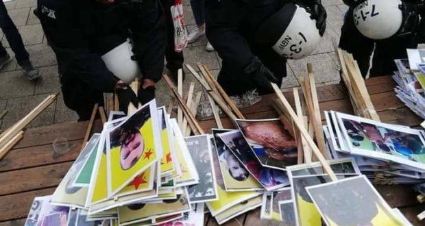 الشرطة الألمانية تقتحم مظاهرة في كولن وتصادر أعلام الكردستاني وصور أوجلان (شاهد الصور)