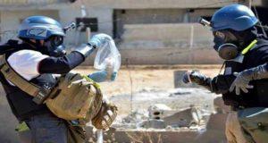 فريق منظمة حظر الأسلحة الكيميائية يقدم تقريره عن سوريا