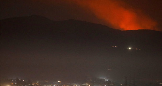 "قصف إسرائيلي استهدف مطار ""تي فور"" العسكري"